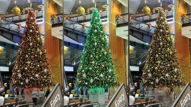 SkyCity colour tree
